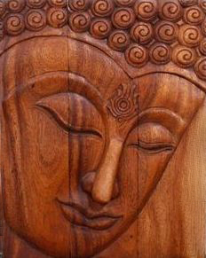 Buddha wood panel